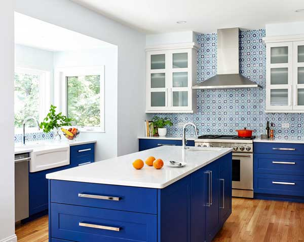 Cobalt Blue color kitchen