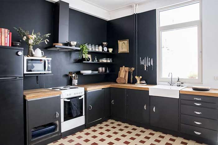 Matte Black kitchen color