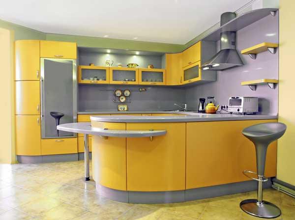 Radiant Yellow kitchen