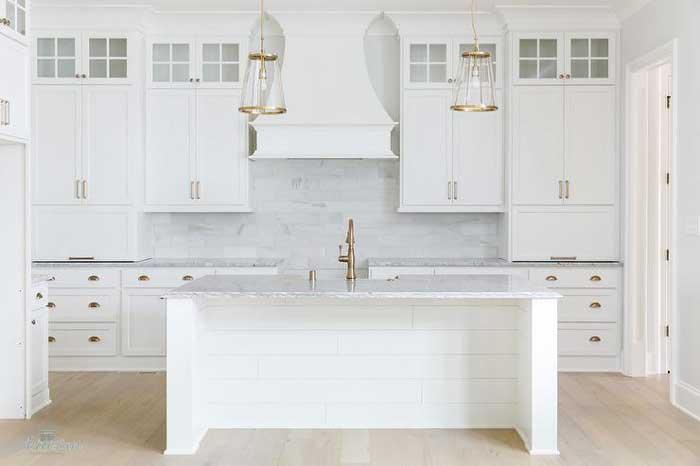 pure white kitchen color